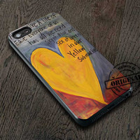 Yellow Submarine Beatles Song Lyrics Canvas Cover iPhone 5/5S/5C/4/4S, Samsung Galaxy S3/S4, iPod Touch 4/5, htc One X/x+/S Case