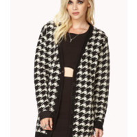 Forever 21   White Retro Houndstooth Cardigan   Lyst
