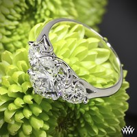 Butterflies 3 Stone Engagement Ring | 14803