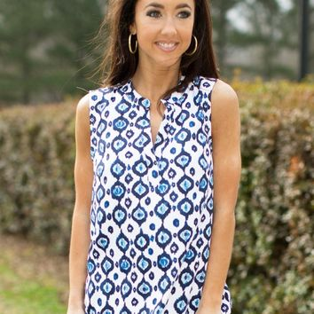 The Rue Tank in Ikat | Monday Dress Boutique