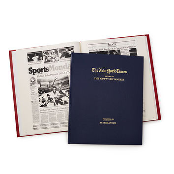 New York Times Custom Baseball Book | sports news