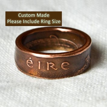 Irish 2 Pingin Coin Ring / Sizes 7-11 (Please include size in purchase notes)