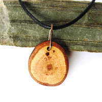 Wood Necklace Pendant Eco Friendly Oak Branch Reclaimed Wooden Jewelry by Hendywood