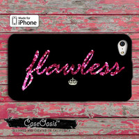 Flawless Beyonce Inspired I Woke Up Like This Pink Sparkle Glitter Cute Music iPhone 4 and 4s Case and Custom iPhone 5 and 5s and 5c Case