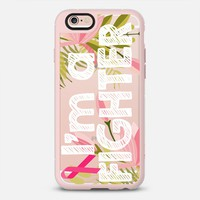 I Am A Fighter Floral Breast Cancer Awareness iPhone 6s case by Jande La'ulu | Casetify
