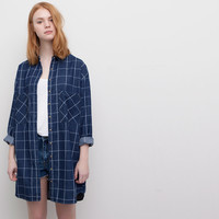 CHECK PRINT SHIRT-STYLE DRESS - NEW PRODUCTS - NEW PRODUCTS - WOMAN - PULL&BEAR United Kingdom