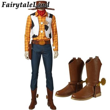 Cool Toy Story Woody Cosplay Costume Halloween Cosplay Costume Cowboy Mascot Costume suit Woody Costume Custom MadeAT_93_12