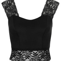 Lace Detail Crop Top - New In This Week - New In - Topshop