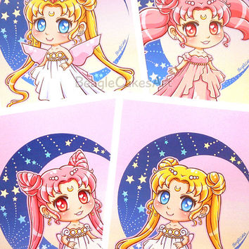 Sailor Moon Art Print. Anime Art Print. Anime Poster. Princess Wall Art. Magical Girl Illustration. Geeky Gift. Manga Art. Princess Serenity