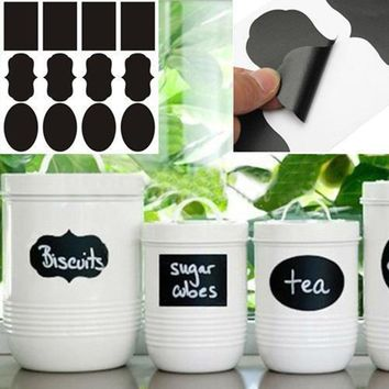 Free shipping 3 Designs 24pcs/lot Vinyl Chalkboard Label Stickers,Modern kitchen Organizing Chalkboard Stickers Decor