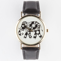 Tribal Elephant Watch Black One Size For Women 23593010001