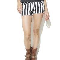 Black and White Stripe Short | Shop Shorts at Wet Seal