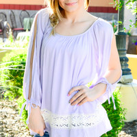ON SPRING TIME TOP IN LILAC