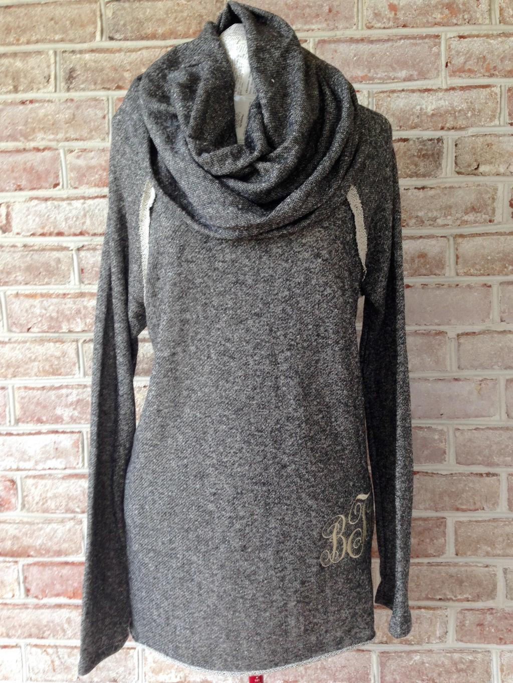 Monogrammed French Terry Cowl Neck Tunic from Angie Messina Wood