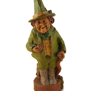"Vintage, Tom Clark, Retired ""Blarney"",  Handcrafted, Gnome, Leprechaun Figurine, by Cairns Studio"