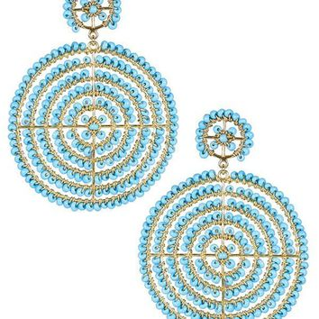 Disk Earrings in Turquoise