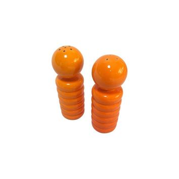 Pre-owned Orange Mid-Century Modern Salt and Pepper Shakers