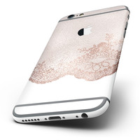 The Rose Gold Lace Pattern 9 Six-Piece Skin Kit for the iPhone 6/6s or 6/6s Plus
