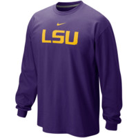 Nike LSU Tigers Classic Logo Long Sleeve T-Shirt - Purple