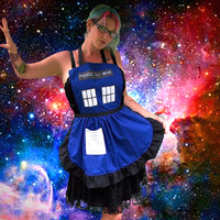 Police Box Apron Doctor Who Tardis Inspired Cosplay Costume