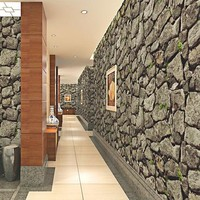 3D brick rock stone wallpaper rolls for living room Vinyl 3d wallcoverings home decor papel de parede 3d wall paper