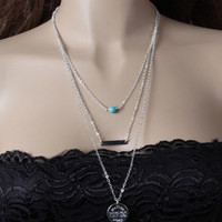 Gift Stylish Metal Chain Simple Design Necklace = 4831078852