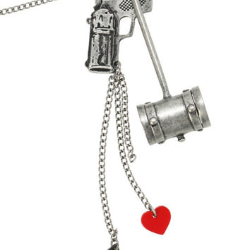 DC Comics Harley Quinn Hammer Necklace