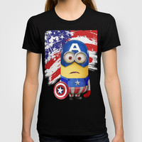 The Avengers Despicable me minion Captain America  T-shirt by Pointsalestore