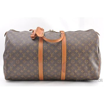 Tagre™ Authentic Louis Vuitton Monogram Keepall 55 Boston Bag M41424 LV 38971