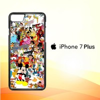 Disney Cartoon Characters F0361 iPhone 7 Plus Case