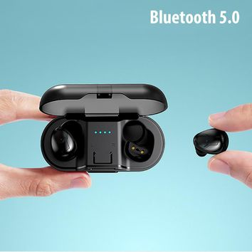 DFOI AirBuds Bluetooth Earphones 5.0 True Wireless Bluetooth Earbuds Stereo Sports Earphone Bluetooth Headset For Xiaomi samsung