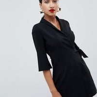 ASOS DESIGN mini wrap blazer dress at asos.com