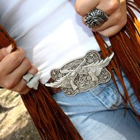 GUNS 'N WINGS BUCKLE - Junk GYpSy co.