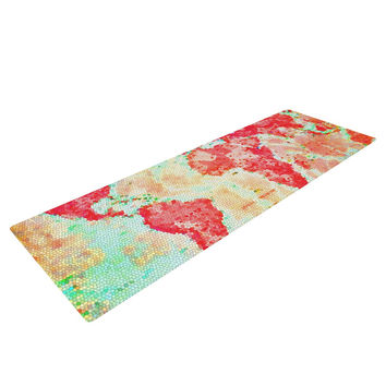 "Alison Coxon ""Oh The Places We'll Go"" World Map Yoga Mat"