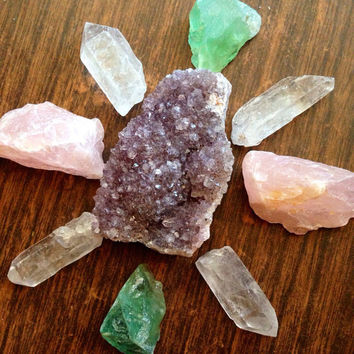 Large Crystal Collection Rough Crystal Healing Crystals and Stones Bohemian Decor Crystal Grid Set Stone Set Stone Collection Crystal Garden