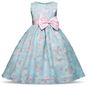 Fancy Kids Dresses For Girls Children Baby Girls Clothes Princess Summer Dress Little Girl Party Wear 4 5 6 8 10 Years Birthday