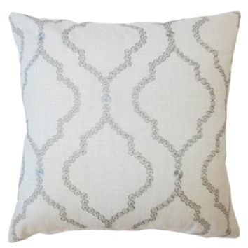 Gabrille Geometric Down Filled Throw Pillow in Mineral | Overstock.com Shopping - The Best Deals on Throw Pillows
