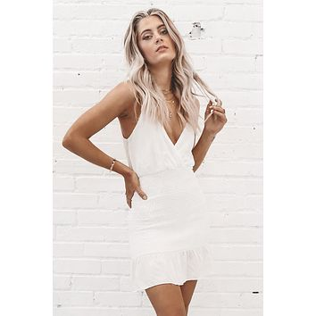 Little White Lie White Mini Dress