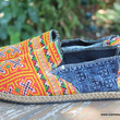 Morgan Mens Loafer in Yellow Hmong Embroidery And Batik Vegan Espadrille
