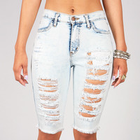 Shipwrecked Bermuda Shorts | Trendy Denim at Pink Ice