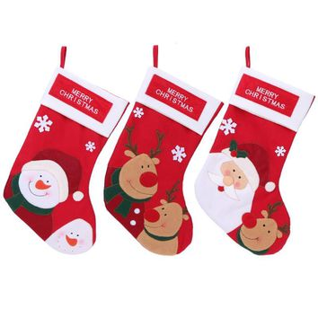 Christmas Stockings Plaid Santa Claus Candy Bag Christmas Decor Storage Bag Hang Gifts For Kids Christmas Decoration Supplies