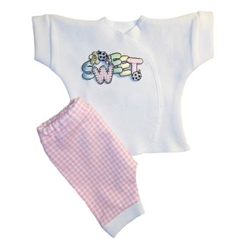 Baby Girls' Sweet Pink Gingham Shorts Clothing Outfit