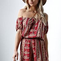 FAITHFULL THE BRAND Phoenix Off-The-Shoulder Romper at PacSun.com
