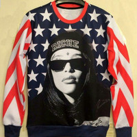 Aaliyah all over print Shirt from Kno Idea Vintage & Custom