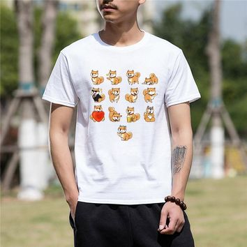 2018 men t shirt tshirt Best Gift For Friend SHIBA INU Cotton T Shirt men tee shirt homme tops