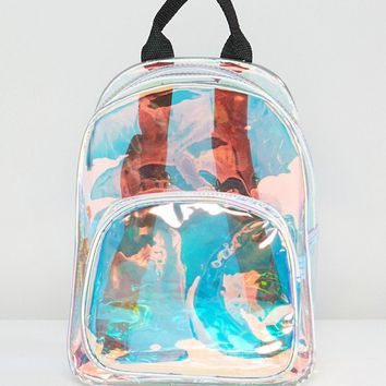 Yoki Fashion Iridescent Backpack at asos.com