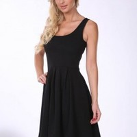 Fit N Flare Black Dress - Che Bello