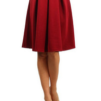 Candy Color Pleated Skirts B005610