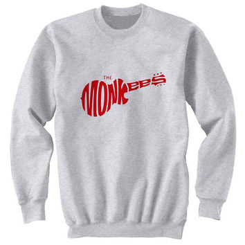 the monkees sweater Gray Sweatshirt Crewneck Men or Women for Unisex Size with variant colour
