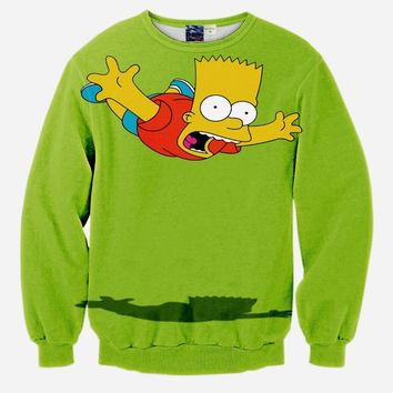 skydiving simpson printed sweatshirt 3D printed sweatshirts lover's hoodies free shipping